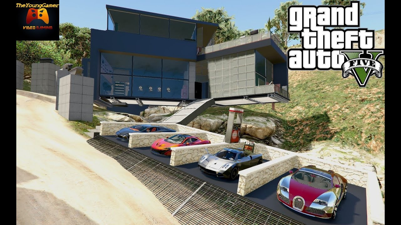 la plus belle villa de gta 5 3 mod youtube. Black Bedroom Furniture Sets. Home Design Ideas