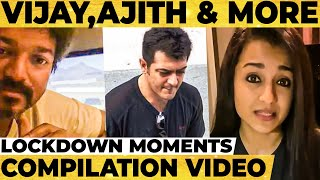 What Tamil Celebrities are doing during Lockdown? | Vijay, Ajith, Nayanthara, Trisha, Yash, Kajal