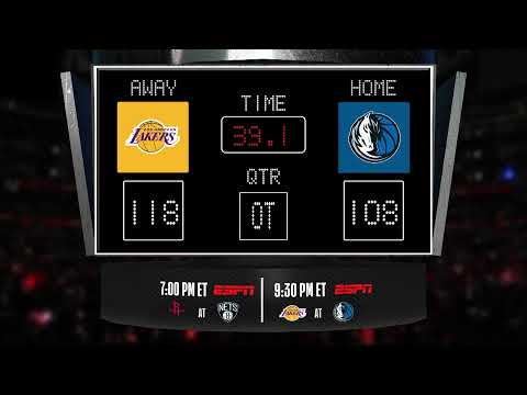 Lakers @ Mavericks LIVE Scoreboard - Join The Conversation And Catch All The Action On ESPN!