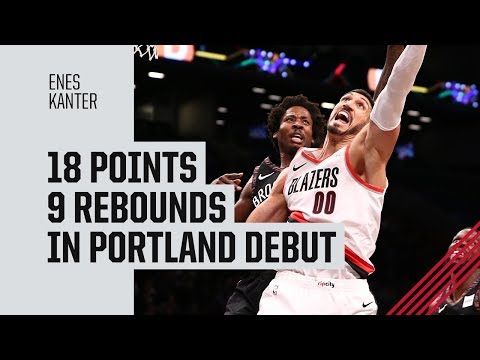 Enes Kanter (18 pts, 9 reb) BLAZERS DEBUT | Full Highlights vs. Brooklyn | February 21, 2019