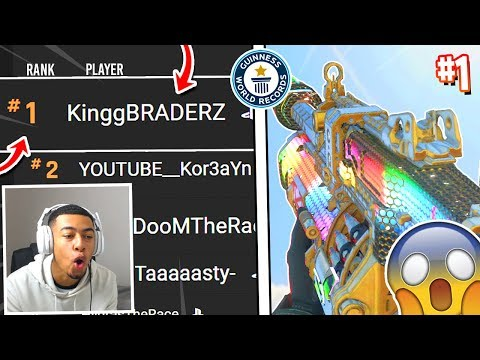 I AM #1 IN THE WORLD ON THE LEADERBOARDS in Black Ops 4! (not clickbait)