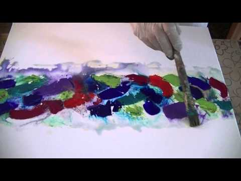 Abstrakt Acryl Tutorial Painting Abstract Blending Youtube
