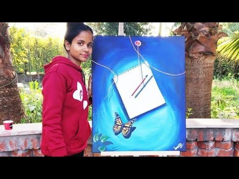 3d Canvas painting 🎨🖌.watch my new art video @Ambika srivastava.