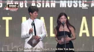 [Vietsub] 161202 MAMA Park Bo Gum & Kim Yoo Jung Presented Awards