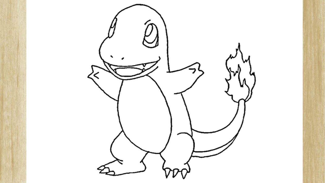 Como Desenhar O Pokemon Charmander How To Draw Charmander