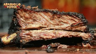 Dinosaur Beef Ribs with Molasses Glaze on the Pit Barrel Cooker