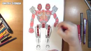 Speed drawing robot Twin Sities, Real Steel