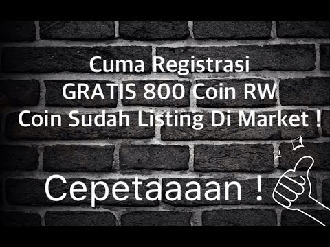 GRATIS 800 COIN RW, Sudah Listing Market, Cuma Registrasi !