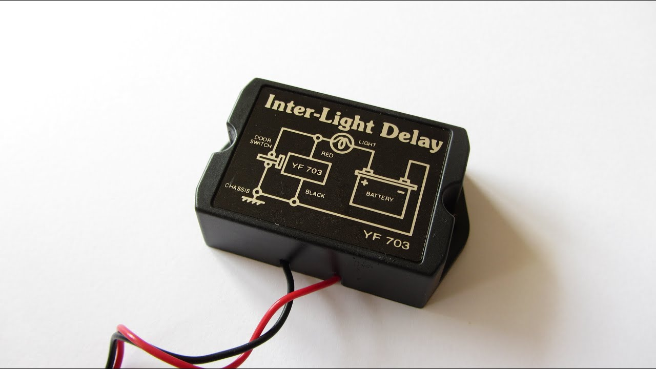 How to Wire Automotive Relay Auto LED Lights Inter Light Delay - YouTube