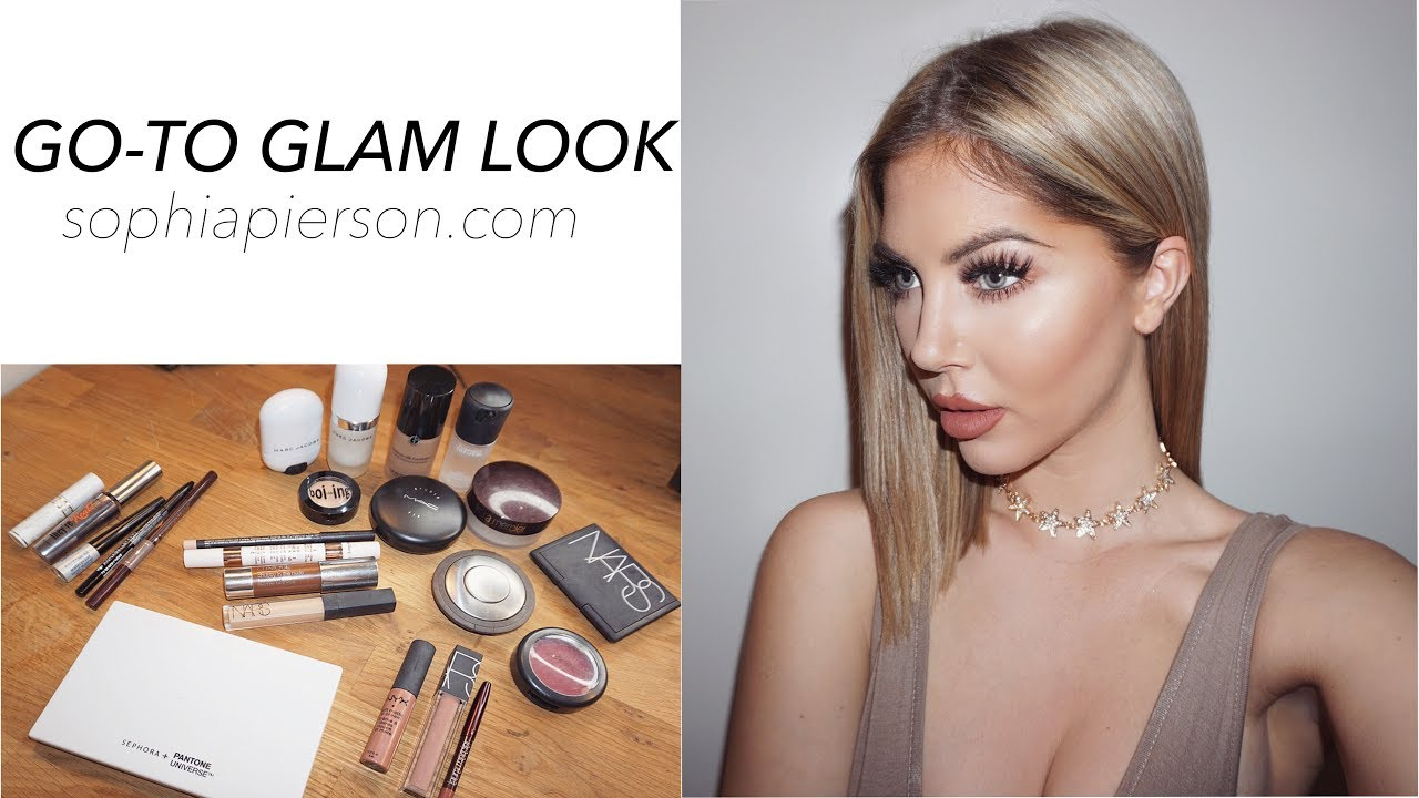 0c8a71e644d My Go-To Glam Look | Sophia Pierson - YouTube