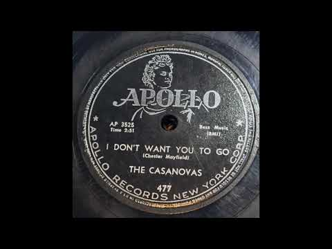 The Casanovas - I Don't Want You To Go 78 rpm!