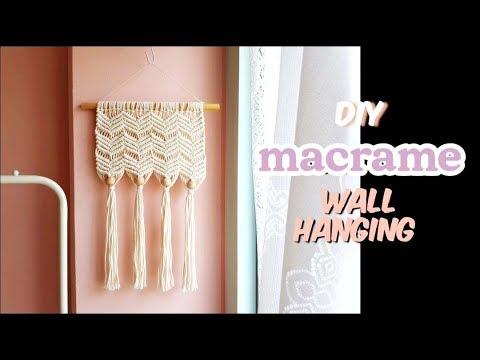 U Macrame l 쉽게 따라하는 마크라메 W 벽장식/월행잉 만들기(diy macrame wall hanging/macrame tutorial)