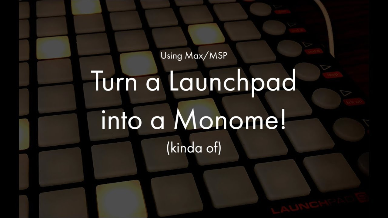 Hack your old MIDI pad controllers into a Monome (kind of)