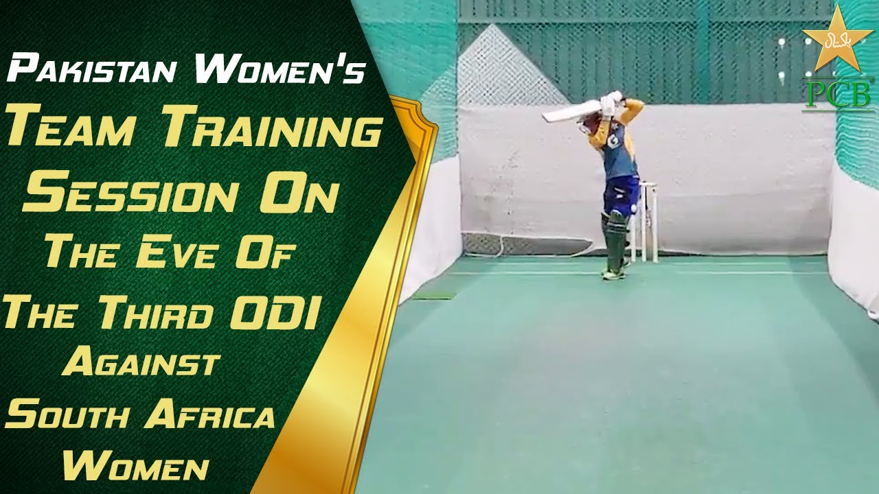 Pakistan Women's team training session on the eve of the third ODI against South Africa Women