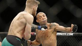 UFC 194 Aldo v McGregor Slow Motion Key Exchanges with Commentary