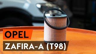 Kaip pakeisti kuro filtras OPEL ZAFIRA-A (T98) [AUTODOC PAMOKA]