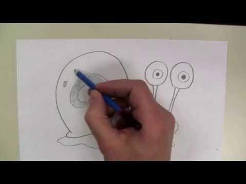 How To Draw: Gary From Spongebob