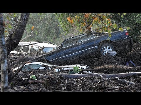 RAW: Mudslide devastation in California