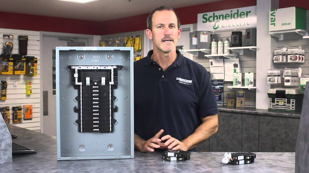 Square D Circuit Breaker Panel Wiring Diagram Three Phase Generator Homeline Load Center Get Free