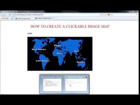 How to create a clickable image map with html