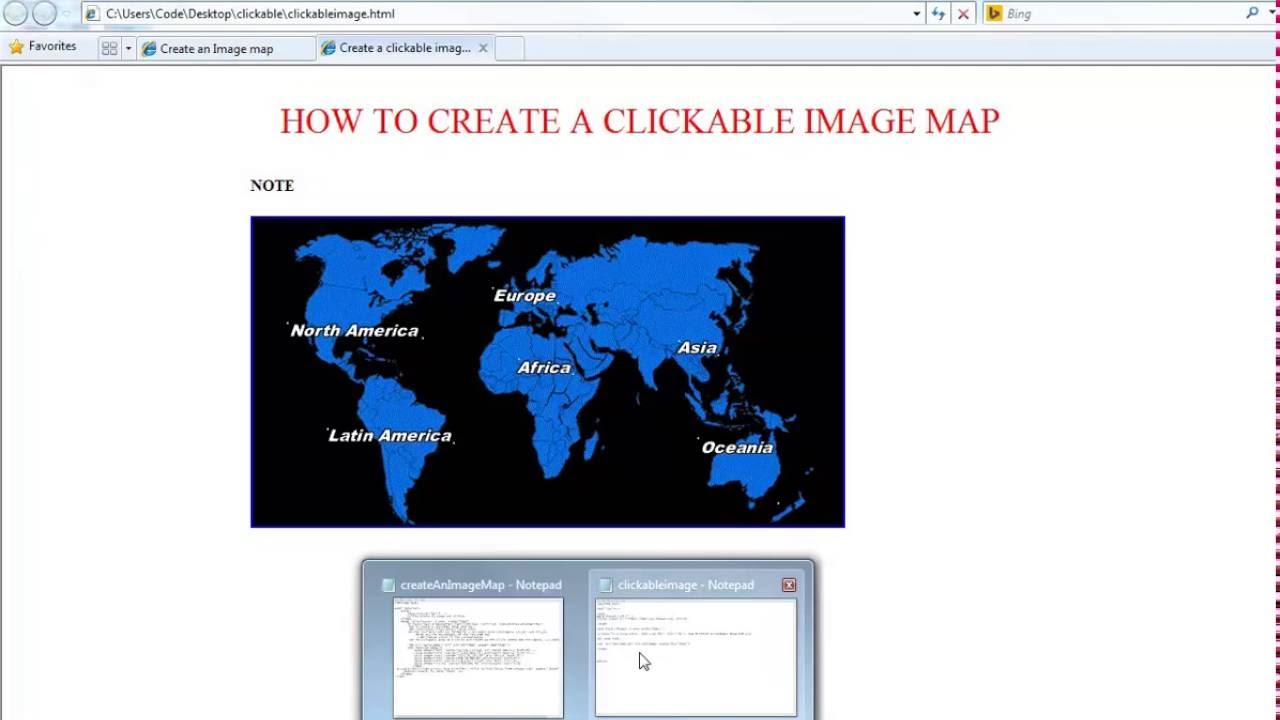How to create a clickable image map with html YouTube