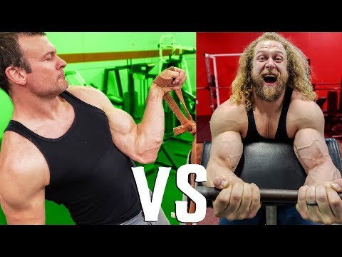 WHO BUILDS BIGGER ARMS? Arm Wrestler Vs. Bodybuilder