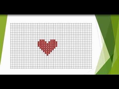 Gut gemocht Stickvorlage - Herz - YouTube UA62