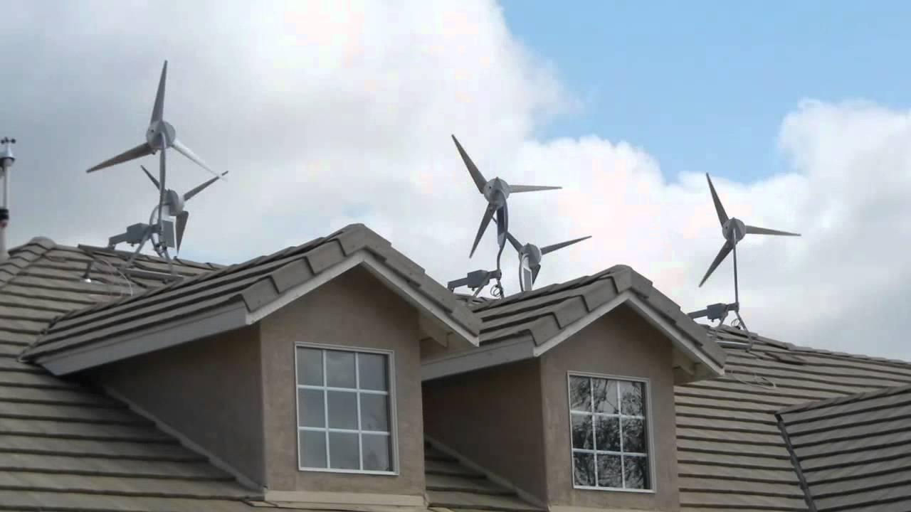 wind turbines installed on roof - Roof Turbine
