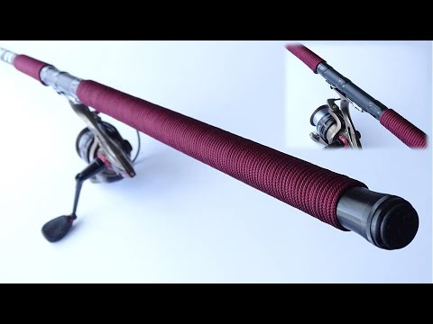 Wrapping A Fishing Rod Handle Using Common Whipping Knot Technique - CBYS