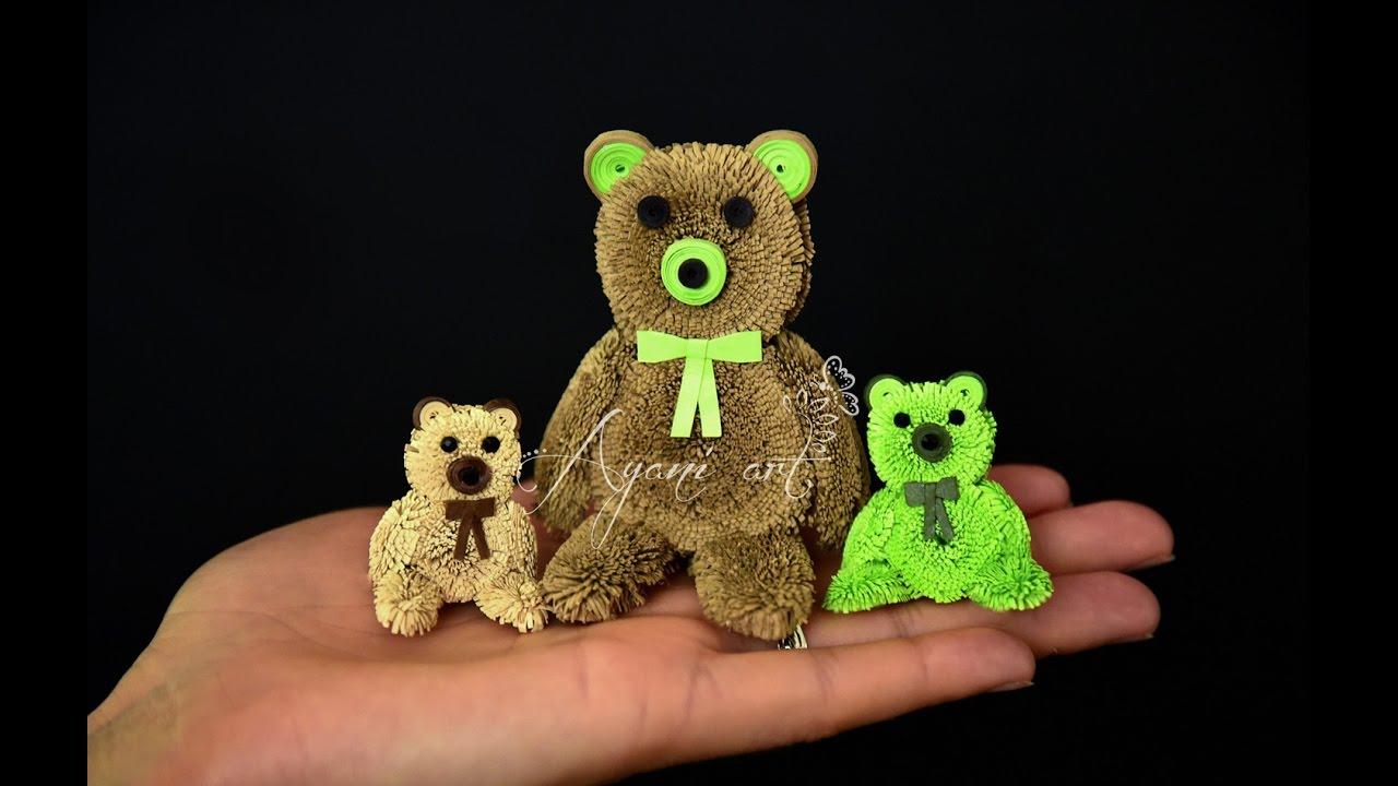 Quilling Teddy Bear Tutorial YouTube