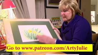 Quick and easy spring daffodils watercolor painting tutorial