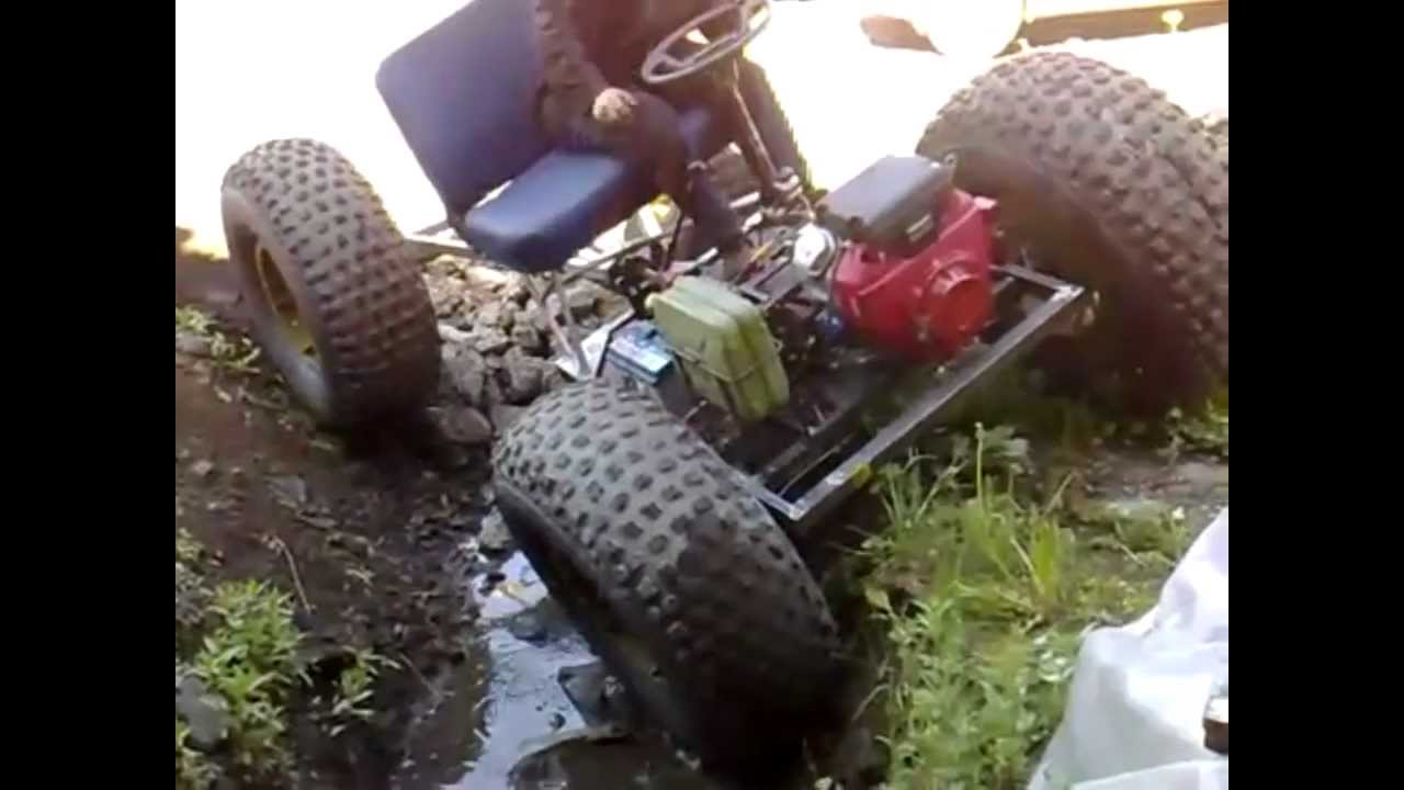 Russian 4x4 Go Kart Ditch Test 1 Youtube