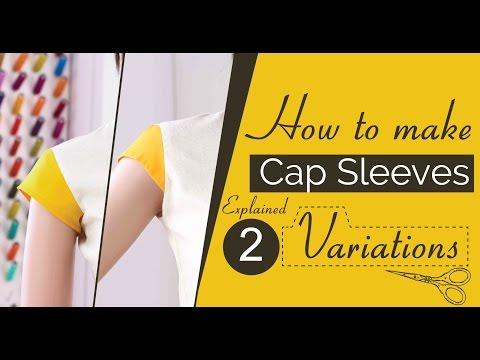 Class 34 - Part 1 How to make Cap sleeves 3 variations [Drafting Pattern], short sleeves, easy diy