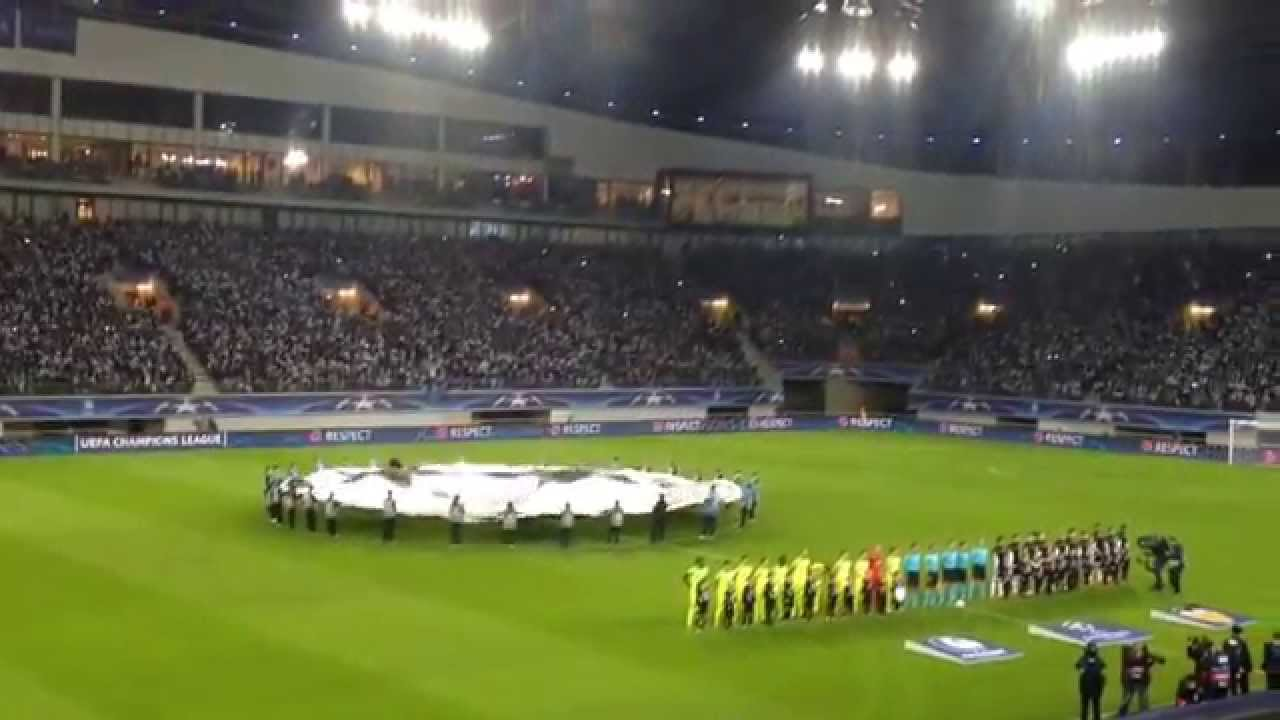 KAA Gent - Valencia CF (CL hymne/Atmosphere during the Champions League  game 04/11/2015) - YouTube