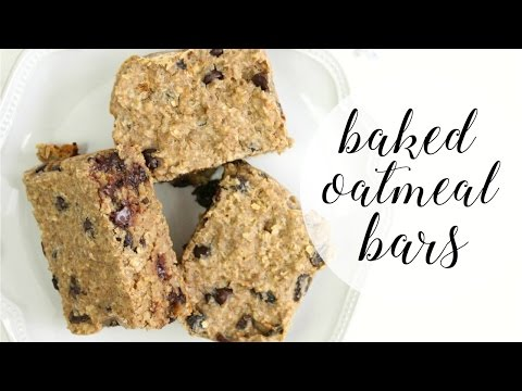 BAKED OATMEAL BARS | Healthy, Easy Breakfast Idea!
