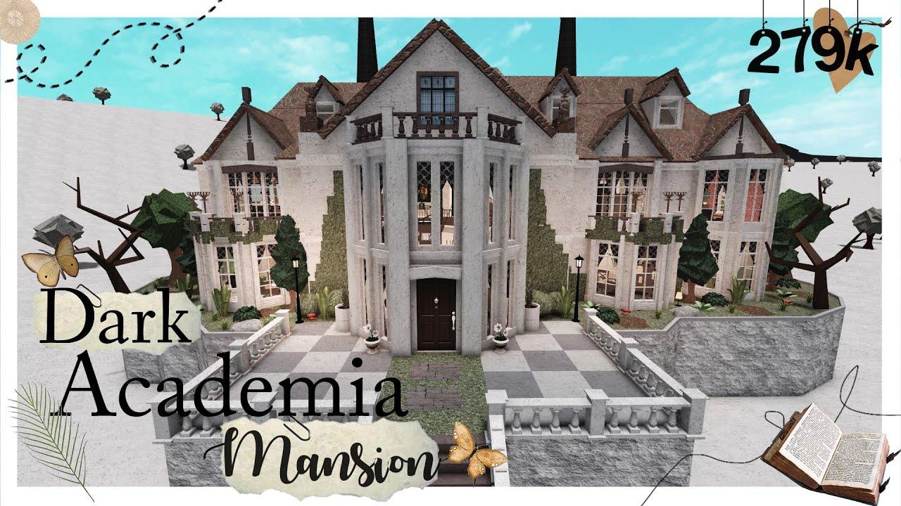 Dark Academia Family Mansion No Large Plot Welcome To Bloxburg Roblox Youtube