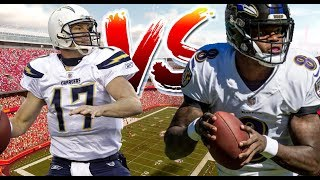 BALTIMORE RAVENS VS LOS ANGELES CHARGERS IN THE AFC WILD CARD GAME!!