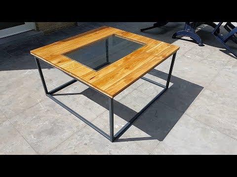 Industrial Style Coffee Table Aquarium