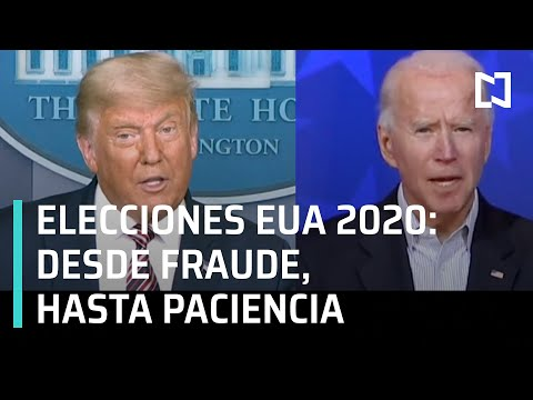 Trump insinúa fraude en elección | Biden pide paciencia para esperar resultados - En Punto