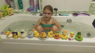 Іграшки для ванни, колекція качечок Rubber ducks я купаюся