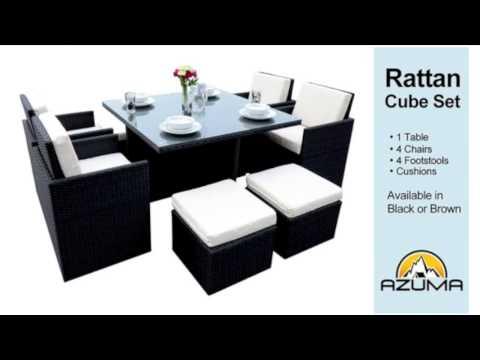 Rattan Cube Garden Furniture Set
