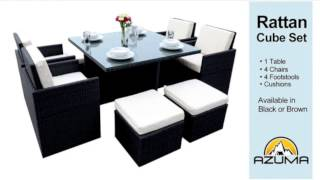 Rattan Cube Garden Furniture Set
