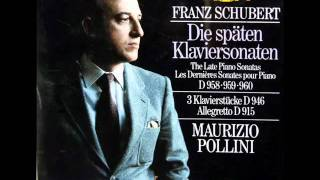 Schubert / Pollini, 1983: Klaviersonate A-Dur D. 959 - Complete