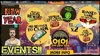 FREEFIRE UPCOMING NEW YEAR ALL EVENTS & REWARD DETAILS & CANDIES||NEW MODE!! DONT MISS OUT ANY ????!!