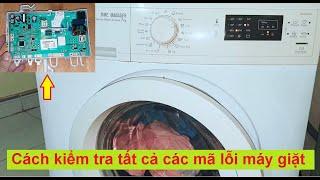 Sửa máy giặt Electrolux không giặt - Báo lỗi E43, hướng dẫn kiểm tra mã lỗi