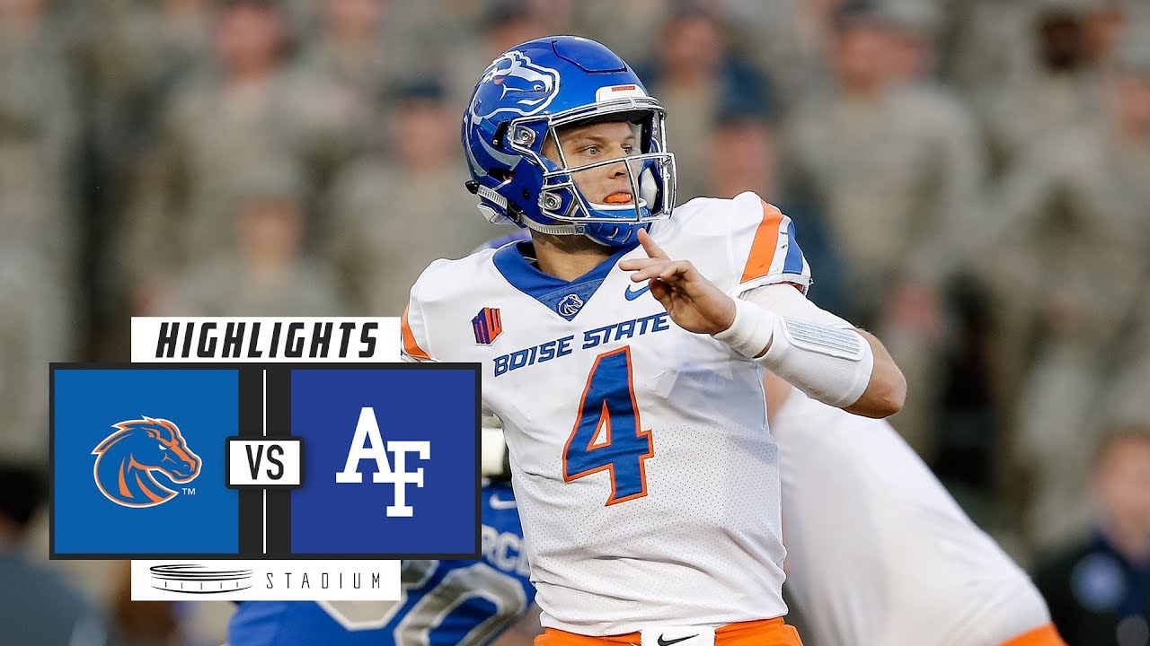 Boise State Vs Air Force Football Highlights 2018 Stadium Youtube