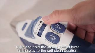 How to use the self-cleaning function of a Rowenta iron