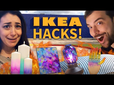 5 IKEA Hacks using Alcohol Ink