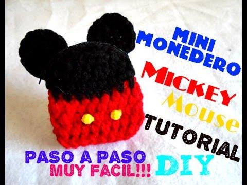 Mickey Mouse - Mini Monedero!!! TEJIDO A CROCHET - YouTube