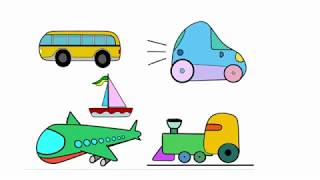 Como desenhar e pintar um autocarro | How to draw and paint a bus for kids - coloring pages